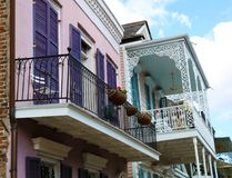 New orleans french quarter colorful house classic unique architecture royalty free stock photo