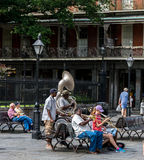 New Orleans French Quarter Street Performers Stock Images