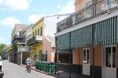 New Orleans French Quarter. Streets of New Orleans, Louisiana - Typical houses of the French Quarter with traditional balconies. The city is famous for its royalty free stock photo