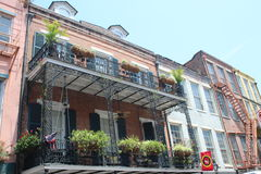 New Orleans French Quarter. Streets of New Orleans, Louisiana - Typical houses of the French Quarter with traditional balconies. The city is famous for its stock photo