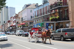 New Orleans French Quarter royalty free stock photos