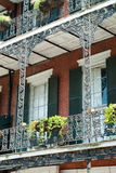 New orleans french quater. New Orleans architecture in bourbon street, french quarter