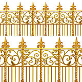 New Orleans Gold Wrought Iron. New Orleans architecture balcony wrought iron stock illustration