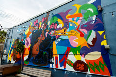 New Orleans Graffiti Walls Stock Images