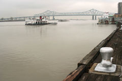 New Orleans harbor. Harbor on the Mississippi, New Orleans, Louisiana Stock Image