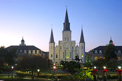 New Orleans helgon Louis Cathedral Royaltyfria Foton