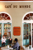 New Orleans Historic Cafe Du Monde Foto de archivo