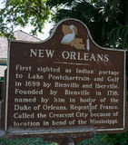 New Orleans Historic Sign. In French Quarter Stock Photo