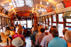 New Orleans Historic Street Car Riders Royalty Free Stock Image