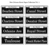 New Orleans Historic Street Signs Collection Stock Image