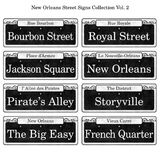 New Orleans Historic Street Signs Collection Royalty Free Stock Photography