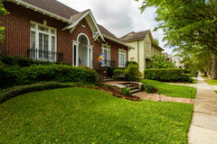 New Orleans Homes. New Orleans, LA USA - April 21, 2016: Beautiful homes in the upscale historic Saint Charles Avenue area Stock Image