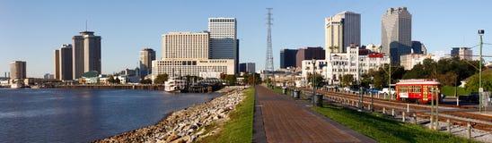New Orleans - horizonte de la mañana del parque de Holdenberg Fotos de archivo libres de regalías