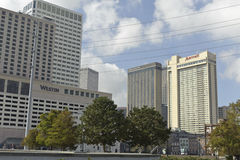 New Orleans Hotels. A shot of New Orleans Hotels Royalty Free Stock Photo