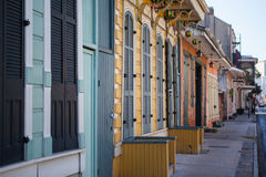 New Orleans Houses. A rustic set of doors and shutters in the French Quarter, New Orleans, USA royalty free stock images