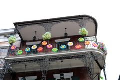 New Orleans Houses vintage balconies. Of the death city royalty free stock images