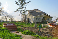 New Orleans Hurricane Damage Stock Photos