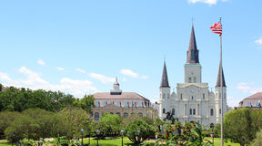 New Orleans at Jackson Square. Stock Photography