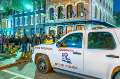 NEW ORLEANS - JANUARY 21, 2016: A police car in the French Quart Stock Photos