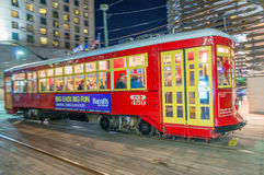 NEW ORLEANS - JANUARY 21, 2016: Street car in canal Street. It i Stock Photos