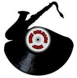 New Orleans Jazz Music Silhouette Record Lizenzfreie Stockbilder