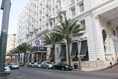 NEW ORLEANS LA - APRIL 12: Hotell Le Pavillon i i stadens centrum New Orleans, Louisiana, USA på April 12, 2014 Royaltyfri Fotografi