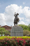 NEW ORLEANS, LA - APRIL 13: Statue of Andrew Jackson at the Jackson Square New Orleans on April 13, 2014. NEW ORLEANS, LA - APRIL 13: View of Statue of Andrew royalty free stock photos