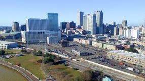 NEW ORLEANS, LA - FEBRERO DE 2016: Opinión aérea de la ciudad New Orleans a Imagenes de archivo