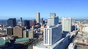 NEW ORLEANS, LA - FEBRERO DE 2016: Opinión aérea de la ciudad New Orleans a Imágenes de archivo libres de regalías