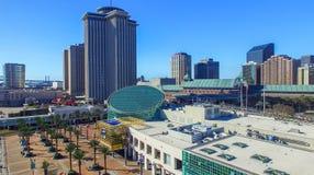 NEW ORLEANS, LA - FEBRERO DE 2016: Opinión aérea de la ciudad New Orleans a Fotos de archivo