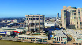 NEW ORLEANS LA - FEBRUARI 2016: Flyg- stadssikt New Orleans a Royaltyfri Fotografi