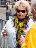 Mardi Gras onlooker Royalty Free Stock Image
