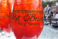 Free NEW ORLEANS,LA/USA -03-19-2019: The Famous Hurricane Cocktail At Pat OBriens Bar In New Orleans French Quarter Stock Photo - 172032280
