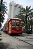 NEW ORLEANS, LA/USA - 3-21-2014: Automobile della via della st del canale di New Orleans Fotografia Stock Libera da Diritti