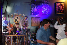NEW ORLEANS,LA/USA -03-21-2014:Band playing at the Spotted Cat b Royalty Free Stock Photo
