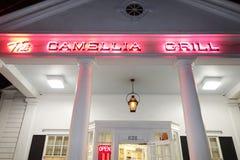 NEW ORLEANS LA/USA -03-23-2019: Camellia Grill, en ber?md restaurang i New Orleans royaltyfri foto