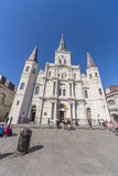 New Orleans, LA/USA - circa Februari 2016: St Louis Cathedral in Frans Kwart, New Orleans, Louisiane stock foto's
