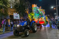 New Orleans, LA/USA - circa February 2016: Krewe of Title in parade during Mardi Gras in New Orleans,  Louisiana Stock Photo