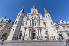 New Orleans, LA/USA - circa February 2016: St. Louis Cathedral in French Quarter, New Orleans,  Louisiana Royalty Free Stock Image