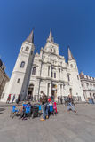 New Orleans, LA/USA - circa February 2016: St. Louis Cathedral in French Quarter, New Orleans,  Louisiana Royalty Free Stock Photography