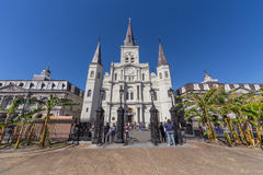 New Orleans, LA/USA - circa February 2016: St. Louis Cathedral and Jackson Square in French Quarter, New Orleans,  Louisiana Stock Images