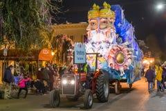 New Orleans, LA/USA - circa im Februar 2016: Der Schöpfer, Brahma, in der Parade während Mardi Grass in New Orleans, Louisiana Lizenzfreie Stockfotografie