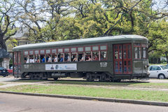 New Orleans, LA/USA - circa March 2009: Municipal tram in New Orleans,  Louisiana Royalty Free Stock Image