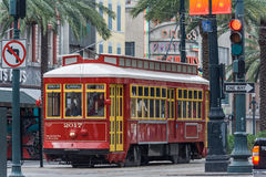 New Orleans, LA/USA - circa March 2009: Old Tram on Canal Street in New Orleans,  Louisiana Royalty Free Stock Images