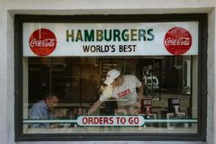 NEW ORLEANS, LA/USA -03-21-2014: La griglia famosa del trifoglio su Bourb Fotografia Stock Libera da Diritti