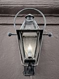 Light Fixture in the French Quarter 3 in B&W. New Orleans, LA USA - May 9, 2018 - Light Fixture in the French Quarter #3 in B&W royalty free stock photo
