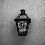 Light Fixture in the French Quarter 4 B&W. New Orleans, LA USA - May 9, 2018 - Light Fixture in the French Quarter #4 B&W royalty free stock image