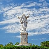 Tatue of Jesus with Hands Raised. New Orleans, LA USA - May 9, 2018 - Statue of Jesus with Hands Raised at Loyola University stock image