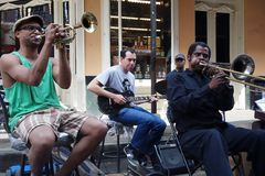 NEW ORLEANS,LA/USA - 3-21-2014: New Orleans French Quarter stree Royalty Free Stock Image