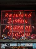 NEW ORLEANS,LA/USA -03-19-2014: Reverend Zombies voodoo shop in. The French Quarter of New Orleans, Louisiana Royalty Free Stock Photos